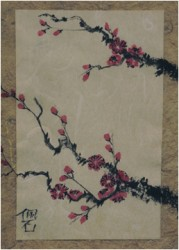 plum blossoms card